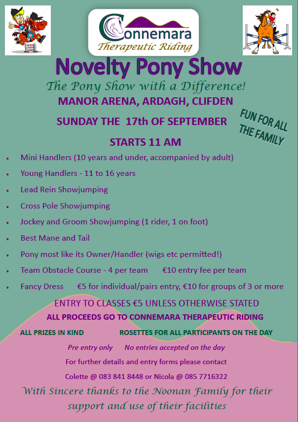 Novelty Pony Show 2017 – Connemara Therapeutic Riding